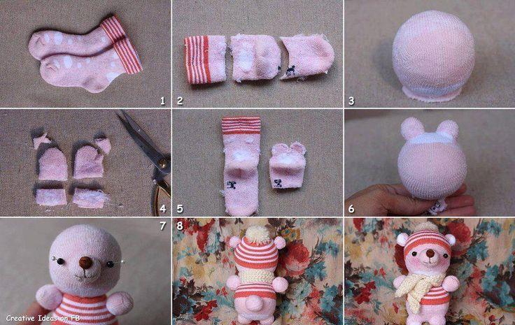 Jak zrobić zabawkę ze skarpetki?
