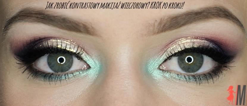 Kontrastowy makijaż wieczorowy krok po kroku