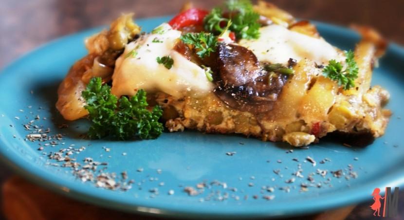 Frittata z warzywami – szybki i tani obiad
