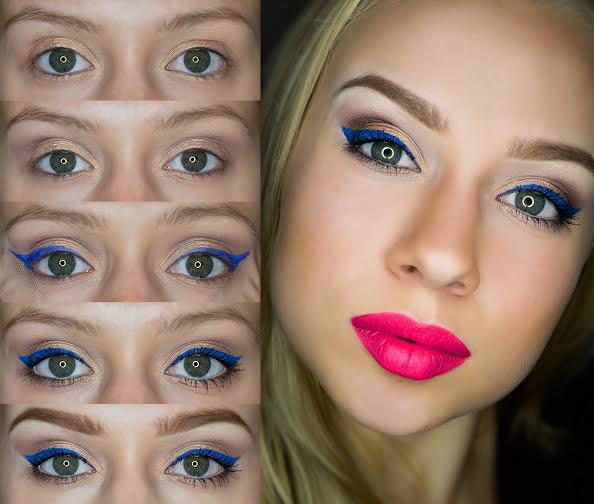 Kolorowy makijaż na zimę, krok po kroku