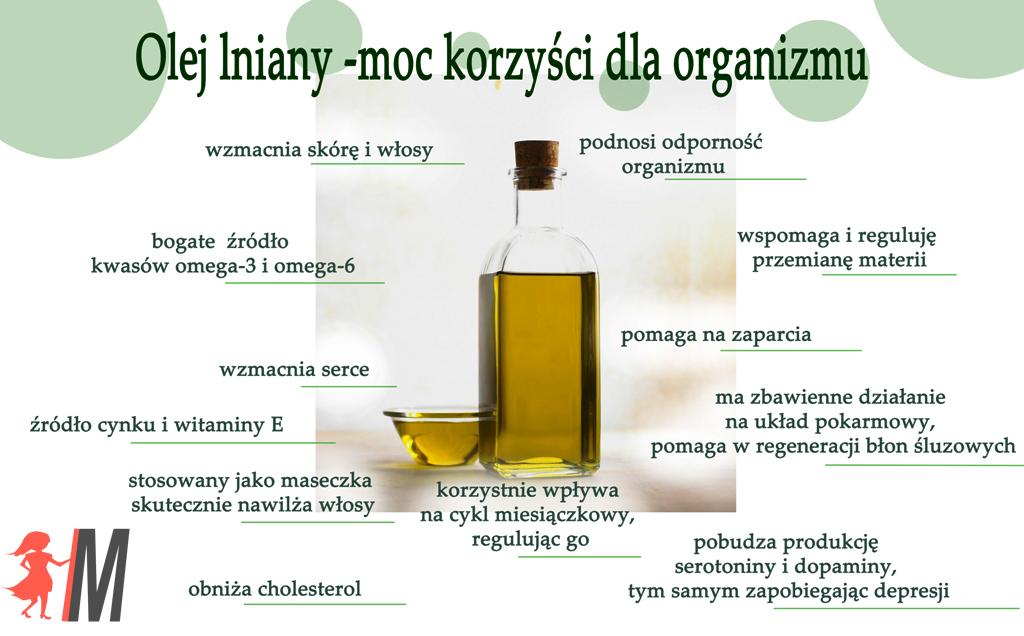 olej lniany jak stosować
