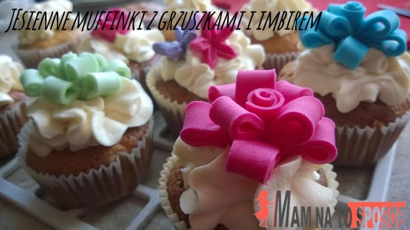 Przepis na muffinki z gruszkami i imbirem