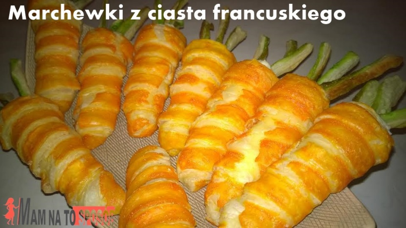 Słodkie marchewki z ciasta francuskiego