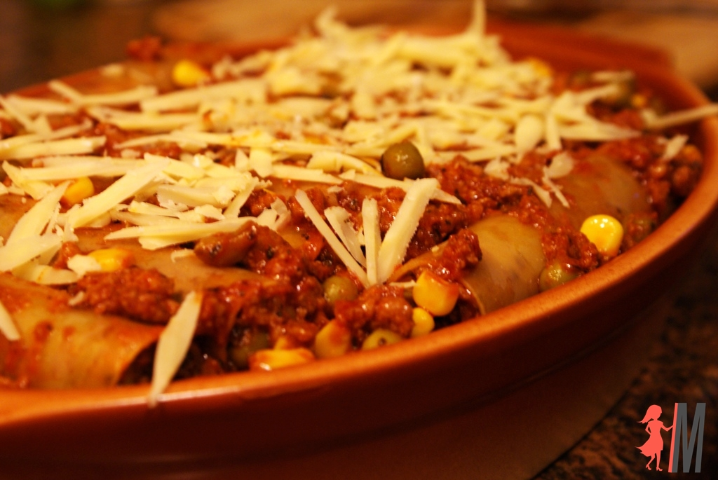 Makaron cannelloni z mięsem mielonym