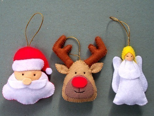 Filcowe ozdoby świąteczne – inspiracje i tutoriale