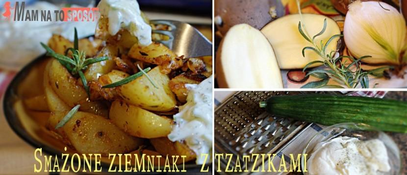 Smażone ziemniaki z sosem tzatziki – szybka i tania kolacja