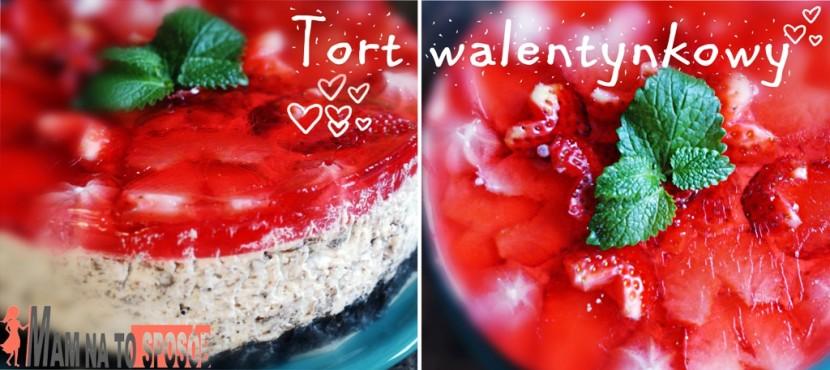 Tort z bitą śmietaną i truskawkami – idealny tort na walentynki