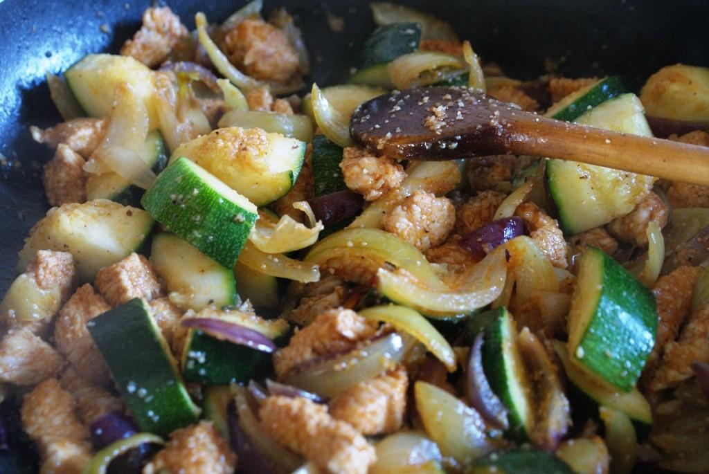 indyk z warzywami