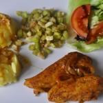 obiad z piersi kurczaka