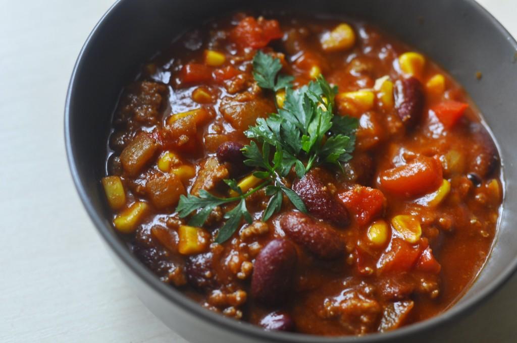 przepis na chilli con carne